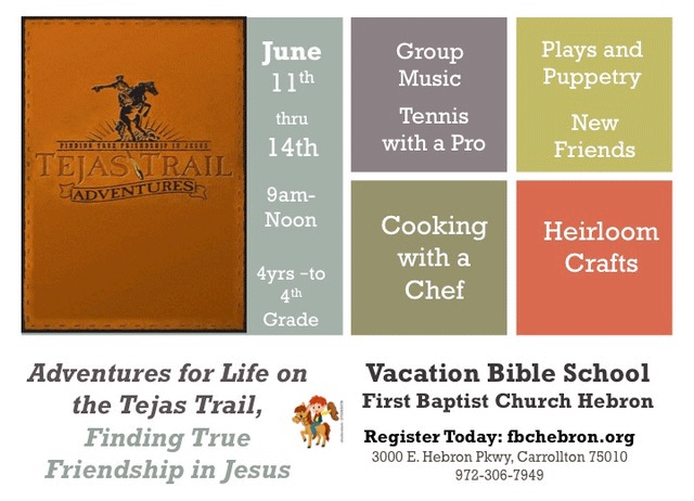 Vacation Bible School - FBC Hebron
