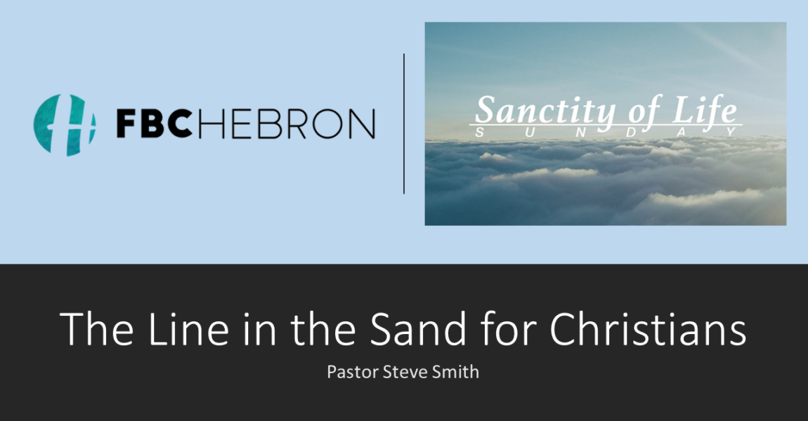 The Line in the Sand for Christians