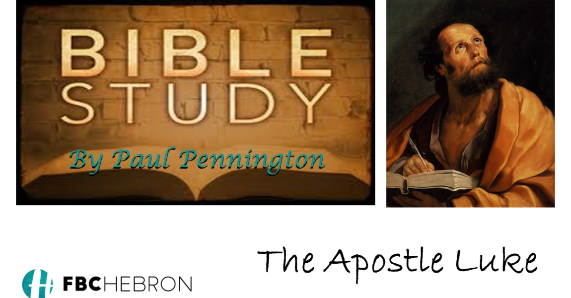 Bible Study – Apostle Luke – Week 3