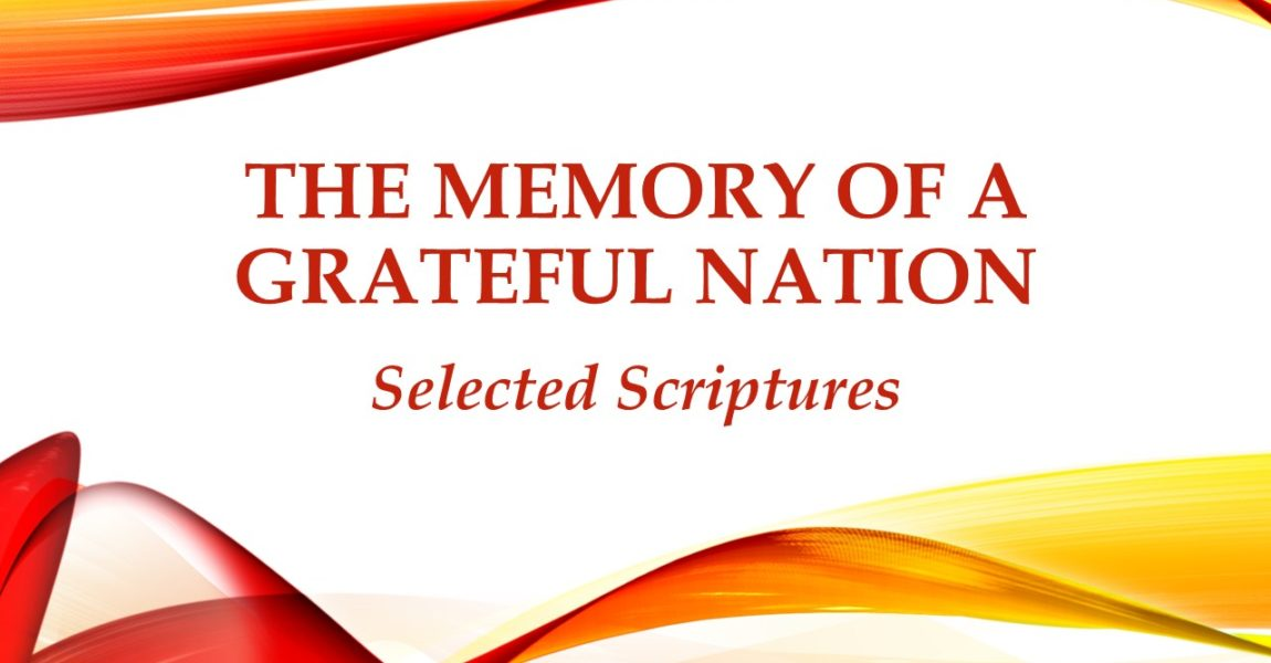 The Memory of a Grateful Nation